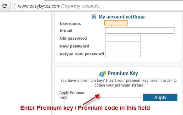 How to activate EasyBytez Premium Key? - PremiumKeyStore.Com