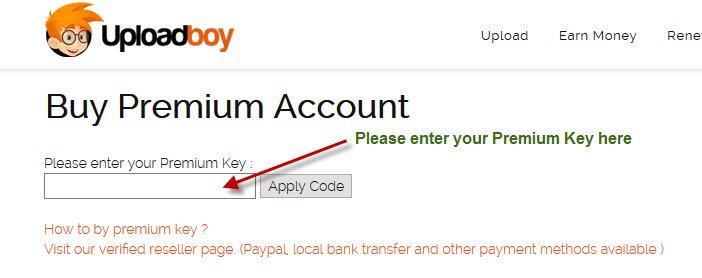 Activate Premium Key